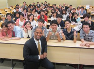 With an amazing group of students at Meiji University in Tokyo, Japan