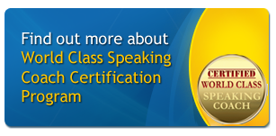 World Class Speaking Coach Certification Program