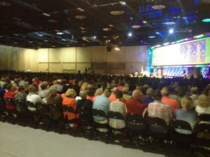 Getting ready to speak to 3,500 people in Tulsa, OK